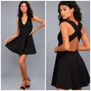 Lulu's 🌿 Going Steady Backless Skater Dress